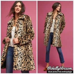 NWT Leopard Print Coat by Matison Stone